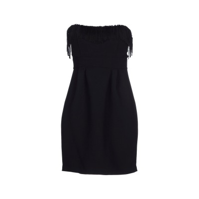 メルシー ..,MERCI ミニワンピース&ドレス ブラック 44 ポリエステル 80% / レーヨン 20% ミニワンピース&ドレス