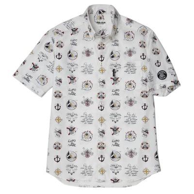 [シナコバxJALショッピング]オリジナルマイクロサッカーシャツ M メンズ アウター/トップス L