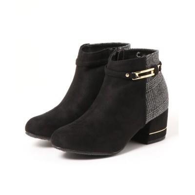 Parade ワシントン靴店 / 【異素材MIX】バイカラーショートブーツ 1277 WOMEN シューズ > ブーツ