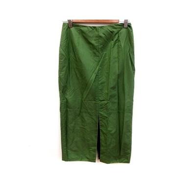 【中古】ストラネスブルー STRENESSE BLUE スカート タイト ロング 36 緑 グリーン /RT レディース 【ベクトル 古着】