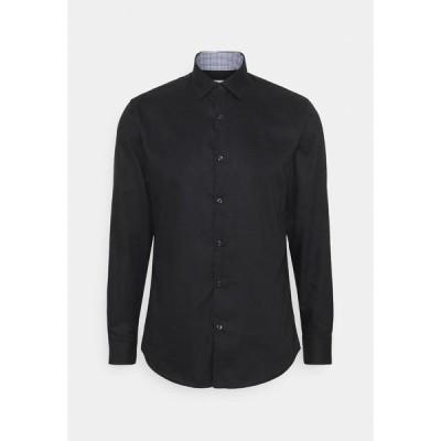 セレクテッドオム シャツ メンズ トップス SLHSLIMNEW MARK - Formal shirt - black