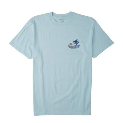 ビラボン メンズ Tシャツ トップス Short-Sleeve Palmas Graphic T-Shirt Coastal Blue