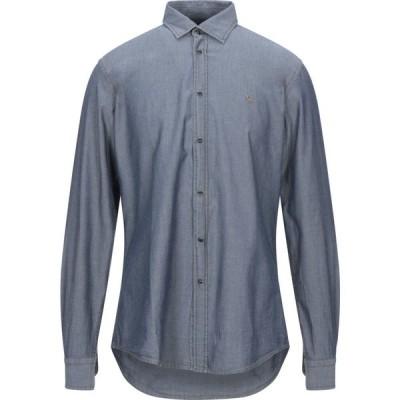 ハーモント アンド ブレイン HARMONT&BLAINE メンズ シャツ デニム トップス denim shirt Blue