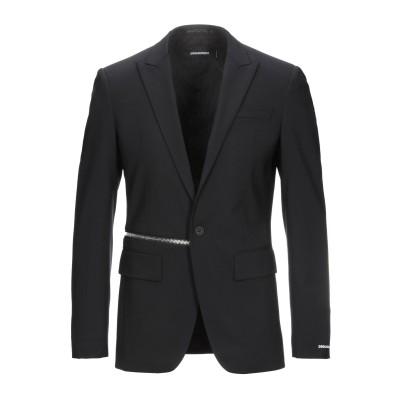 ディースクエアード DSQUARED2 テーラードジャケット ブラック 46 バージンウール 95% / ポリウレタン 5% テーラードジャケット