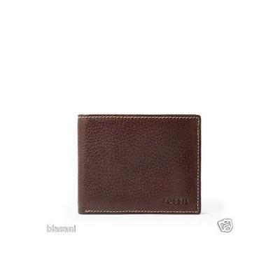 財布 フォッシル Fossil Original ML3569200 Brown Lincoln Flip ID Bifold Leather Men's Wallet