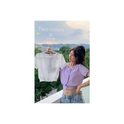 【送料無料】韓国風 半袖のワイシャツ 女 デザイン 感 小 夏 スクエアカラートップ   364331_A63236-6596443