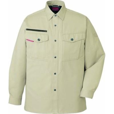 80204 ストレッチ長袖シャツ(年間定番生地使用)(自重堂) 社名刺繍無料S~5L 綿100%