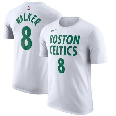 Kemba Walker ボストン・セルティックス Nike 2020/21 City Edition Name & Number T-シャツ - White