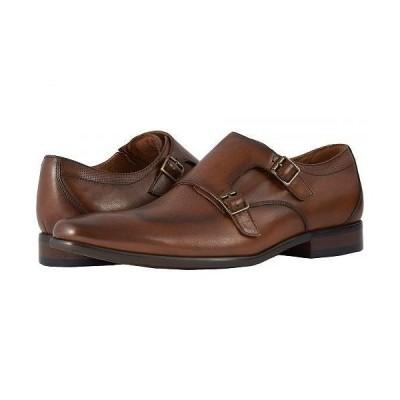 Florsheim フローシャイム メンズ 男性用 シューズ 靴 オックスフォード 紳士靴 通勤靴 Postino Double Monk Strap - Cognac Smooth/Perf