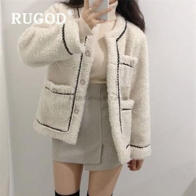 レディースファッション RUGODウールコート女性暖かいファジージャケットレディース冬コート2019ストリート韓国スタイルの女性のファッション2019