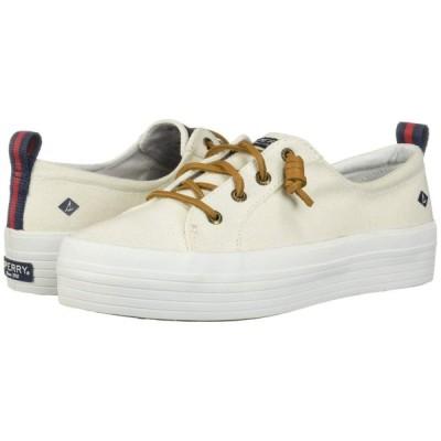 スペリートップサイダー Sperry レディース スニーカー シューズ・靴 Crest Vibe Triple Canvas White