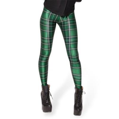 2020 レディース カジュアル ボトムス チェック柄 レギンスパンツ 個性的 奇抜 POP 原宿系 ファッション パンツ 個性  な 服 青文字系