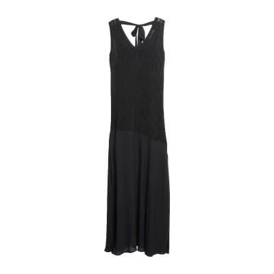 カオス KAOS ロングワンピース&ドレス ブラック XS レーヨン 70% / ナイロン 15% / ポリエステル 15% ロングワンピース&ドレス