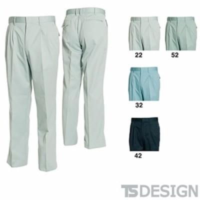 TS Design 藤和 1411 ツータックスラックス メンズ 秋冬 通年 作業服 作業着 ポケットなし