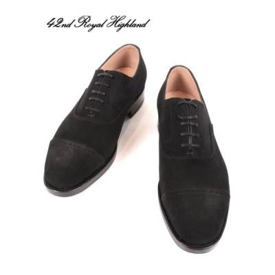 42ND ROYAL HIGHLAND NAVY COLLECTION スエードレザー ハーフラバー ドレスシューズ 紳士靴 革靴 ビジネス ch9310sh-01 BLACK ブラック 国内正規品
