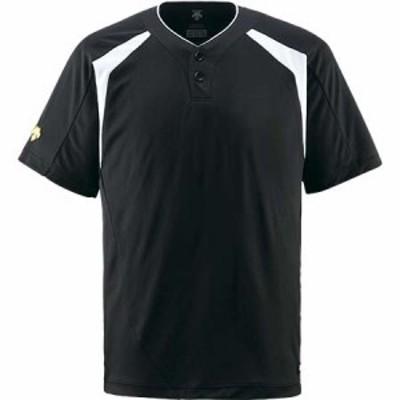 デサント(DESCENTE) コンビネーションTシャツ BLK DB-205 【野球 ウエア ユニホーム ベースボールシャツ】