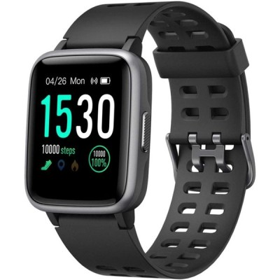 スマートウォッチ 腕時計 YAMAY 最新 歩数計 活動量計 ストップウォッチ IP68防水 最長連続7日間使用可能 画面の明るさ調節 日本語アプリ