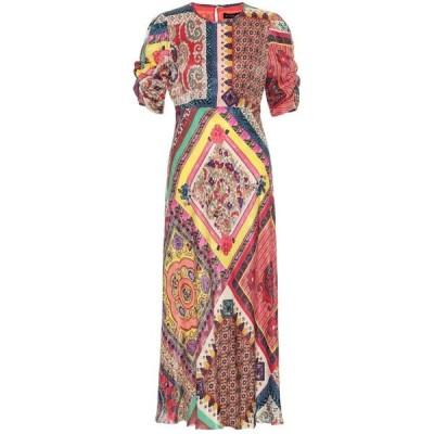 エトロ Etro レディース ワンピース ミドル丈 ワンピース・ドレス Printed satin midi dress