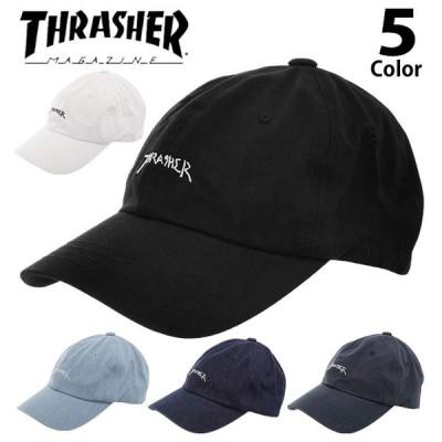 キャップ レディース メンズ 帽子 キッズ スラッシャー THRASHER ブランド おしゃれ cap スポーツ ローキャップ low コットンキャップ 6パネル