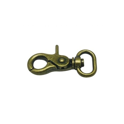 Generic Bronze 0.8 Inches Inside Diameter Oval Ring Lobster Clasp Claw Swiv
