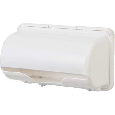 イノマタ化学 キッチンペーパーホルダー ピュアホワイト 幅29.7×奥行13.9×高さ17.8cm プラス スマート (日本製) 0342