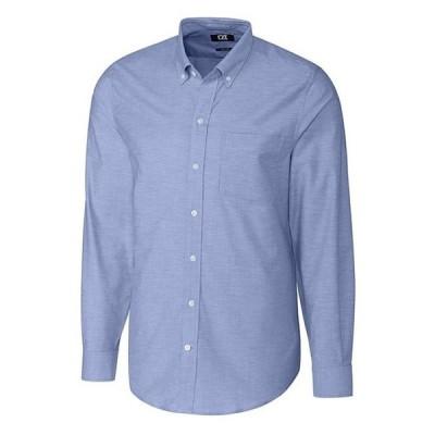 カッターアンドバック メンズ シャツ トップス Long-Sleeve Stretch Oxford Dress Shirt