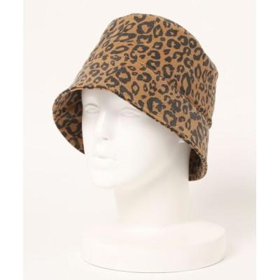 UNBILLION / スコール SQUALL / レオパードミクロコーデュロイダウンブリムバケット WOMEN 帽子 > ハット