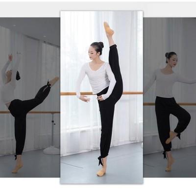 レディース ダンス衣装 バレエパンツ ヨガパンツ サルエルパンツ ワイドパンツ ステージ衣装 モダンダンス ダンスウェア 踊りパンツ 練習ウエア