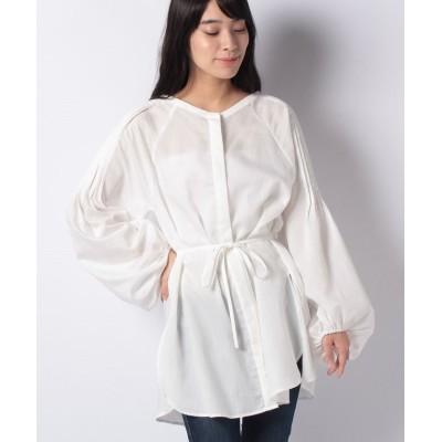 【ミスティック】 ラグランタックボリュームシャツ レディース オフホワイト FREE mystic