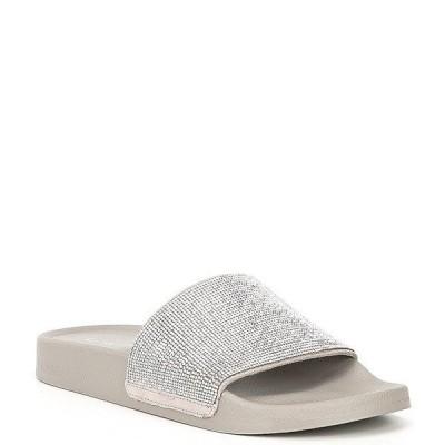 ジアーニビニ レディース サンダル シューズ Fyffer Embellished Suede Shower Slides Silver