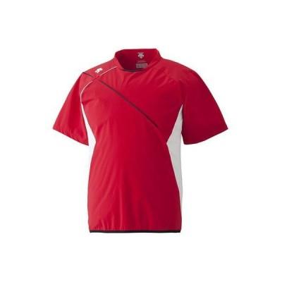 DESCENT(デサント) 野球 ハイブリッドシャツ レッド XA DBX-3602B