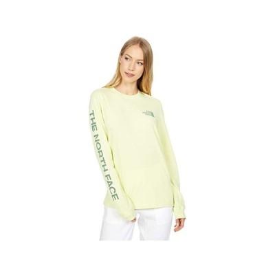 ザ・ノースフェイス Simple Logo Long Sleeve Tee レディース シャツ トップス Pale Lime Yellow