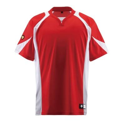 【デサント】 ベースボールシャツ メンズ レッド系 L DESCENTE