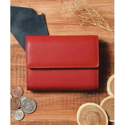 Add+ / 〈Add+〉本革 レザーコンパクトミニウォレット 三つ折りミニ財布 MEN 財布/小物 > 財布