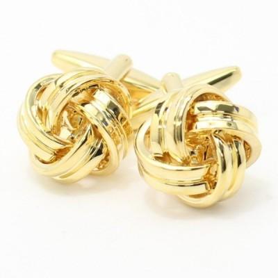 カフス ビジネスでもフォーマルでも大活躍の結び目 ゴールドカフス メンズ スーツ プレゼント カフスマニア
