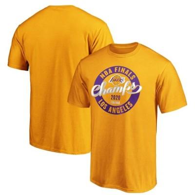ロサンゼルス・レイカーズ Fanatics Branded 2020 NBA Finals Champions Zone Laces T-シャツ - Gold