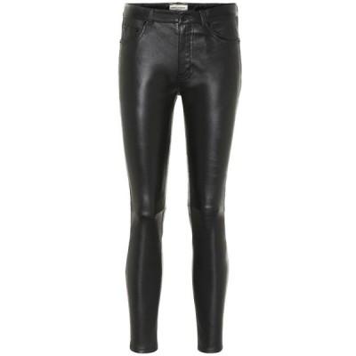 イヴ サンローラン Saint Laurent レディース ボトムス・パンツ レザーレギンス Leather Leggings Black
