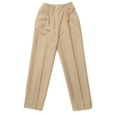 【シャネル】Chanel 96A ココボタン 金ボタン スラックス パンツ P08300 ベージュ 34 【中古】【正規品保証】105892