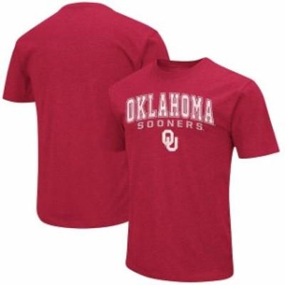 Colosseum コロセウム スポーツ用品  Colosseum Oklahoma Sooners Heathered Crimson Distressed Arch Over Logo T-Shirt