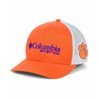 コロンビア メンズ 帽子 アクセサリー Clemson Tigers PFG Stretch Fitted Cap Orange/White