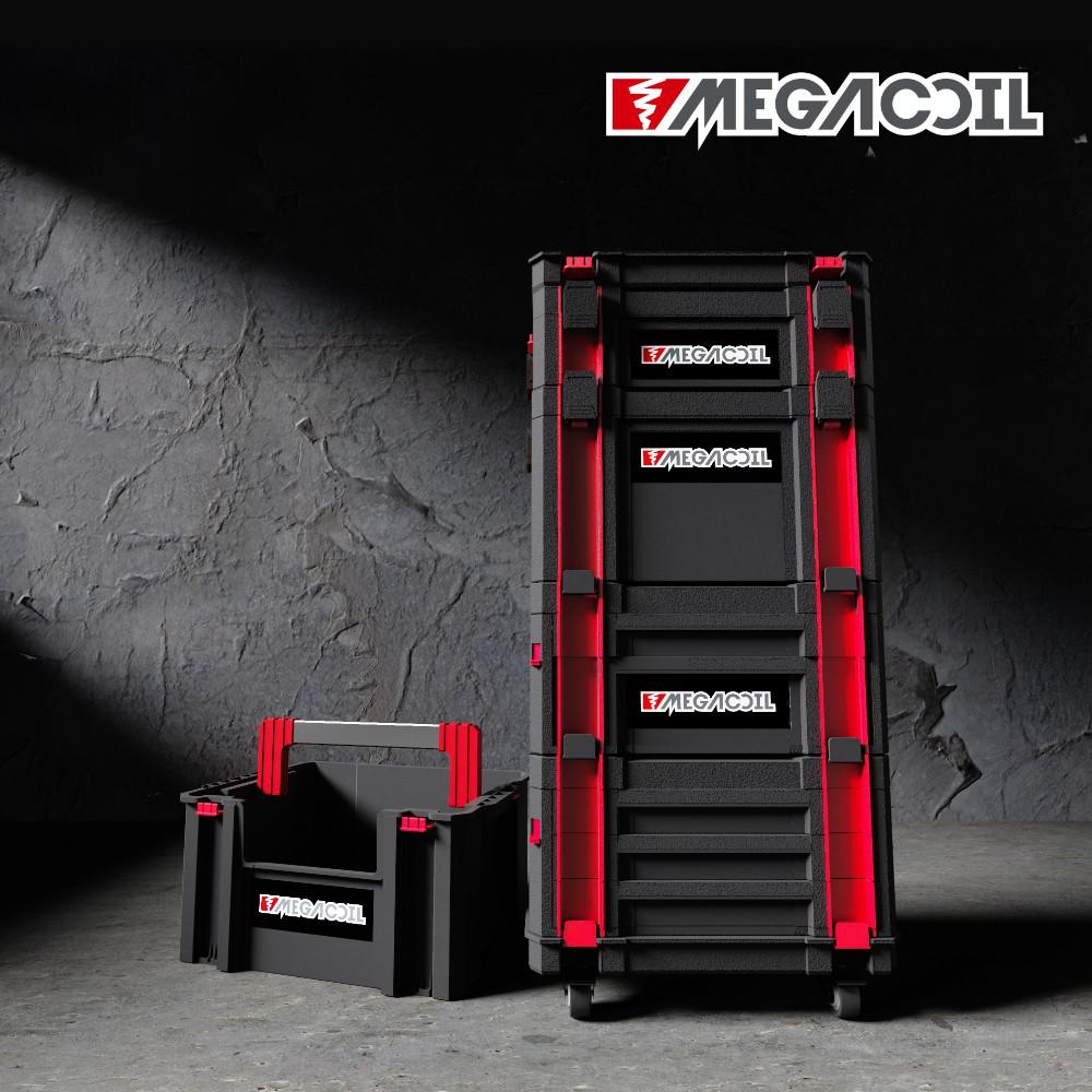 【MEGACOIL】堆疊工具箱 系統式工具箱 組合箱 工具盒 手提工具箱 烏龜車 可移動托盤 收納箱 自由變型組合