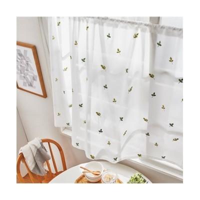 小さなリーフ柄刺しゅう小窓用カフェカーテン のれん・カフェカーテン, Curtains(ニッセン、nissen)