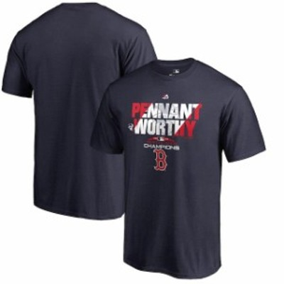 Majestic マジェスティック スポーツ用品  Majestic Boston Red Sox Navy 2018 American League Champions Heater T-Shirt