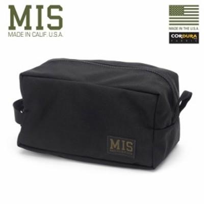 MIS エムアイエス MIS-1011 CORDURA NYLON アクセサリーバッグ / ポーチ MADE IN USA - BLACK【Sx】 / ミリタリー アウトドア メンズ 小
