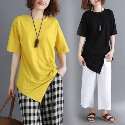 Tシャツレディース半袖トップス無地カジュアルTシャツかわいいゆったり2019夏新作セール
