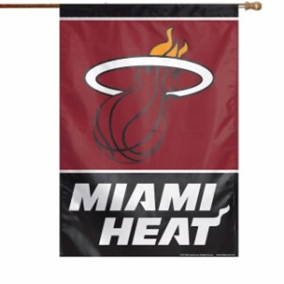 WinCraft ウィンクラフト スポーツ用品  WinCraft Miami Heat 28 x 40 Primary Logo Single-Sided Vertical Banner