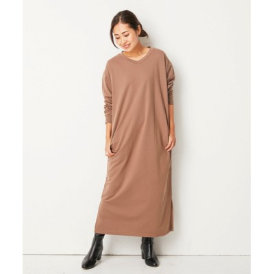 ゆったりシルエット◎ミニ裏毛ロングワンピース (ワンピース)Dress