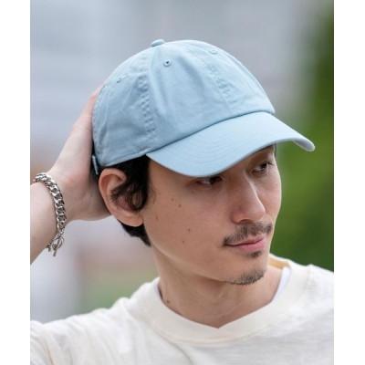 coen メンズ カラーベースボールキャップ 帽子 ライトブルー