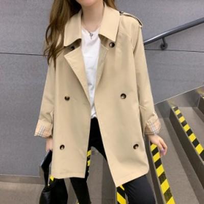 アウター 春 スプリング トレンチ コート カジュアル 通勤 通学 フェミニン 女っぽ 大人可愛い 韓国ファッション