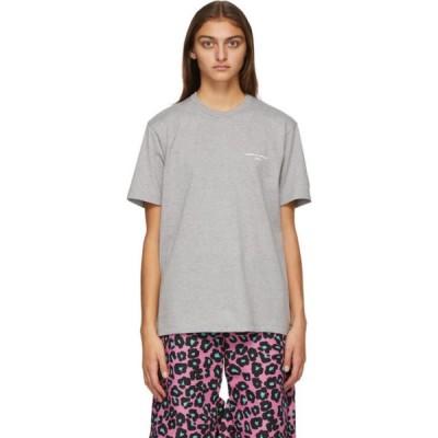 コム デ ギャルソン Comme des Garcons Homme Plus レディース Tシャツ トップス Grey Logo T-Shirt Grey/White